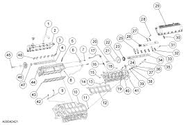 15 passenger van v10 engine diagram of parts upper end components