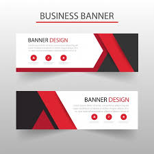 banner design template template of geometric banners with red shapes vector free download