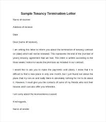 Rental Contract Termination Letter 9 Rental Termination Letter ...
