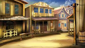 the main street of the town in the wild west stock ilration ilration of