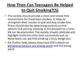 quit smoking help for teenagers 13