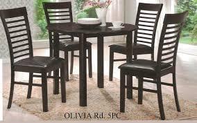 casa blanca cb olivia rd 5pc 5 pc olivia espresso finish wood 42