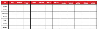 Free Weekly Timesheet Template Printable Excel Timesheet