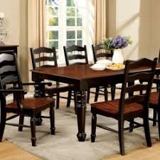 palisade black and cherry dining room set by furniture of america cm3122bc t