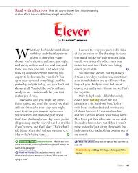 eleven reading and activities 4