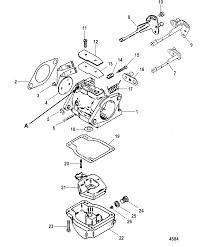 Carburetor for mariner mercury 75 90 h p 65 jet 3 cylinder