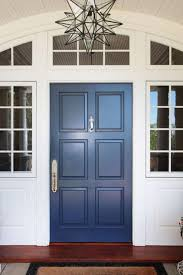 Delighful White Front Door Blue House With I On Simple Ideas