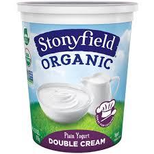 stonyfield organic organic double cream plain yogurt