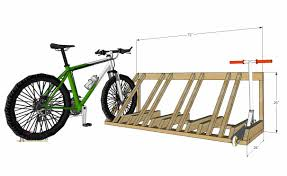 how to build a diy wood bike and scooter rack