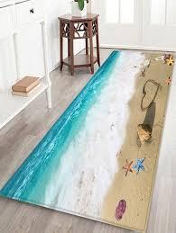 latest beach view decorative home decor area rug