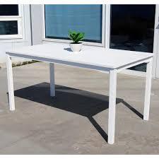 white acacia patio dining table