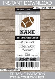 Party Ticket Invitations Stunning Black And Gray Silver Football Party Ticket Invitation Template