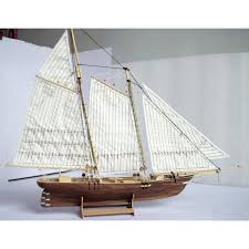 scale 1 120 laser cut wooden sailboat model kit the american1851 ship model