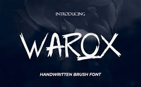 In your example this should work: Warox Font By The Keys Creative Fabrica In 2020 Brush Font Lettering Free Fonts Download