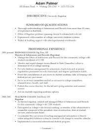 Sample College Resume Sample Resume College Student Sample Resumes