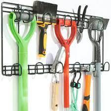 garden tool double rack wall garage