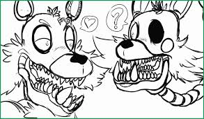 Five Nights At Freddys Coloring Pages Foxy Great Mangle X Foxy By