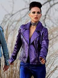 natalie portman vox lux leather jacket