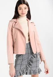 miss selfridge nubuck biker faux leather jacket pink womens lapel collar jackets hjqr728c