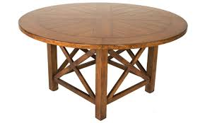 drexel 60 inch round parquet dining table angle