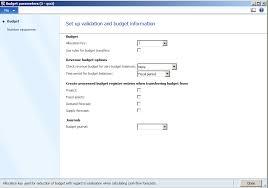 Setup Of Basic Budgeting In Microsoft Dynamics Ax 2012 Axpulse