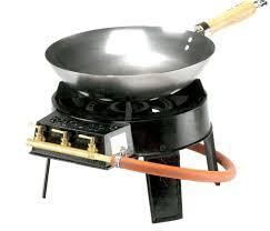 wok gas burner set for outdoor wok cooking cast iron burner garden camping new