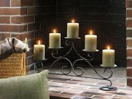 creative decoration candle holder for fireplace holders