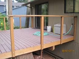 24 inspiration gallery from deck railing posts inside or outside tips before diy installing