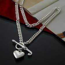 2019 curb chain necklace 6mm 20 inch with heart pendant and letter j in 925 sterling silver from jieminglang 29 15 dhgate com
