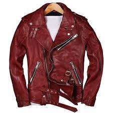2019 2018 men red genuine leather motorcycle jacket plus size xl real sheepskin diagonal zipper leather biker coat from maoku 488 58 dhgate com
