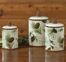 walk in the woods lodge canister set 3 pcs rustic kitchen decor com