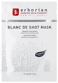 Erborian <b>Тканевая маска</b> Blanc De Shot Mask для <b>сияния</b> кожи ...