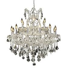 luminous lighting maria theresa 30 in 19 light chrome candle chandelier
