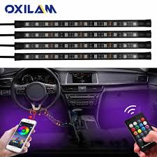 App Controlled Interior Car Lights App Control Rgb Led Strip Automobile Atmosphere Lamp Car Decorative Ambient Lights 5050 48smd Car Interior Light With Remote 12v