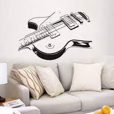 Guitar Wall Stickers Music Art Wall ...