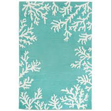lucca sea flower blue 4 ft x 6 ft indoor outdoor area rug