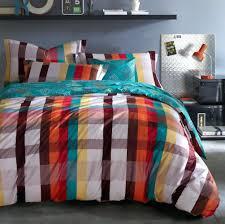 cotton plaid rainbow king size duvet cover bedding sets full measurements white queen dimensions