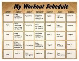Printable P90x Workout Calendar