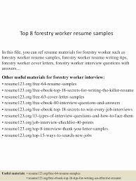 Forest Worker Sample Resume Inspiration Forestry Technician Resume Sample New Forestry Technician Resume