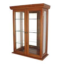 Low Glass Cabinet Amazoncom Display Curio Cabinets Home Kitchen