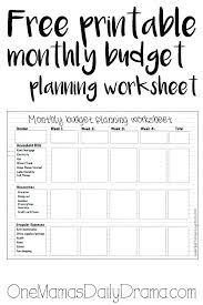 Free Printable Monthly Budget Free Printable Expense Sheets Free Printable Monthly Budget