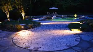 Lighting Around Pool Deck All Lit Up Landscape Lighting In Knoxville Tenn Carex