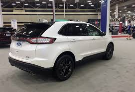 2018 ford edge. modren edge inside the big surprise is cloth interior that you might not expect on  a higher series model but ford says its because customers wanted it on 2018 ford edge