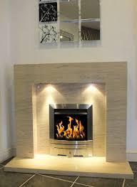 estonia polished mocha creme limestone fireplace fire