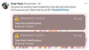 Evde kal Türkiye' bildirimi korkuttu