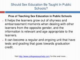 should sex education be taught in public schools 5 should sex education be taught in public schools