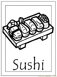Small Picture Japan 005 sushi coloring pages Japanese culture for kids All