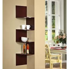 4d concepts hanging wall corner shelf storage