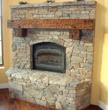 charmful log fireplace mantel