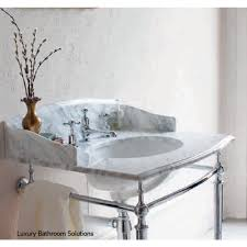 georgian marble top with basin chrome wash stand